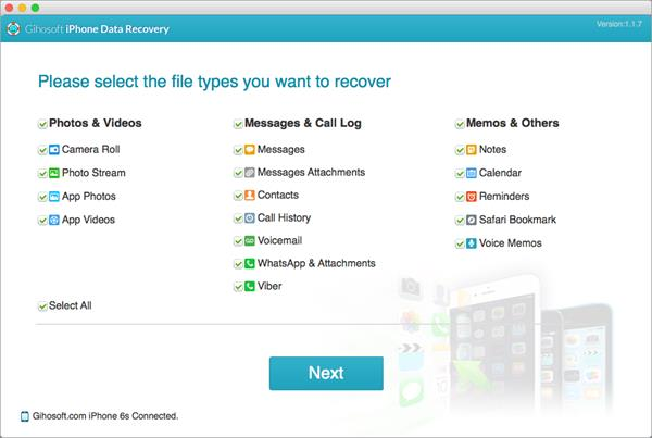 Gihosoft iPhone Data Recovery for Mac 1.1.7 full