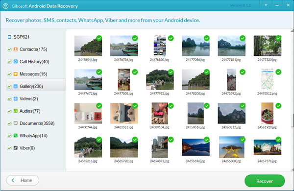 Preview and Recover Lost Files from Android