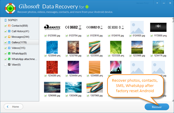 Android Data Recovery after Factory Reset without Backup