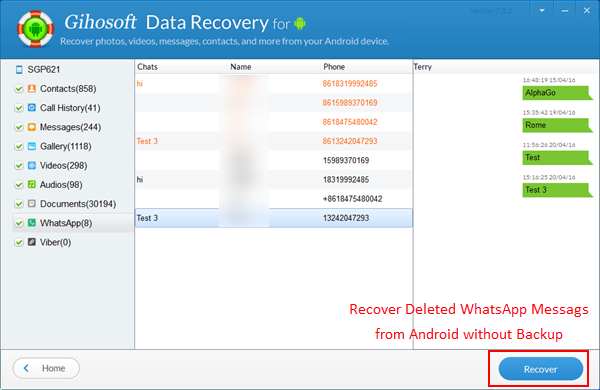 Whatsapp Recovery Android Restore Deleted Whatsapp
