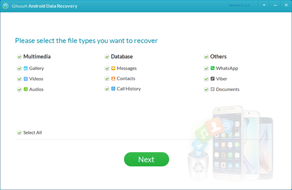 Gihosoft Android Data Recovery for Mac Screenshot