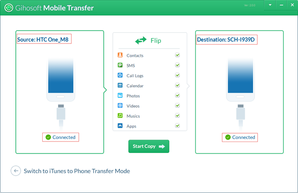 Gihosoft Android Data Transfer - Transfer Data from Android