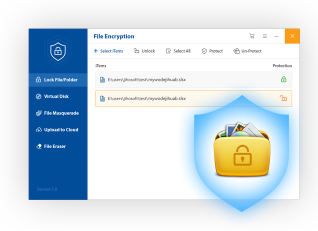 Gihosoft File Encryption is the best file locker for PC helps you lock files. quick Screen Shot