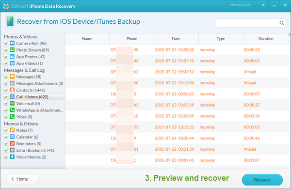 How to Use Gihosoft iPhone Data Recovery Free