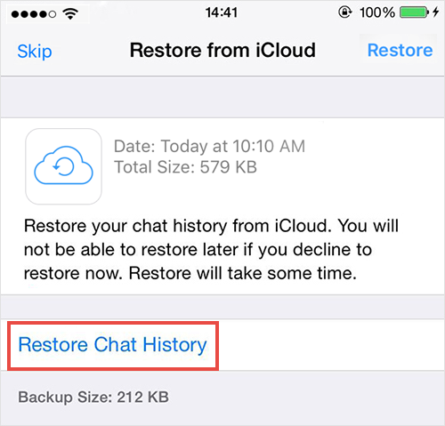 Restore Deleted Messages from WhatsApp Chat Backup