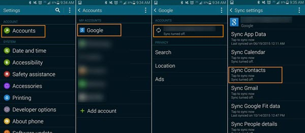 how to add phone contact to google account