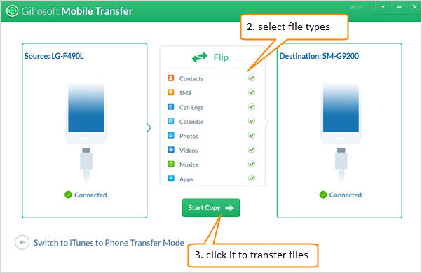 Transfer Contacts from Android to Another Android Phone