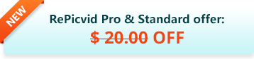 RePicvid Pro & Standard offer: $20 off