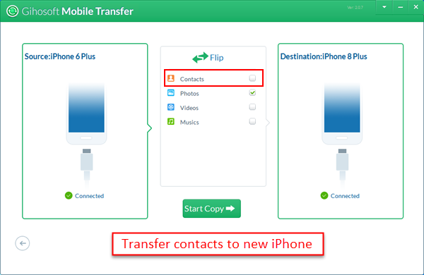 how to transfer from old iphone to new iphone 3 ways to transfer contacts from iphone to iphone x 8 8 plus 21420