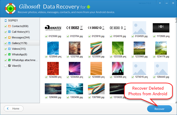 Recover Deleted Android Photos