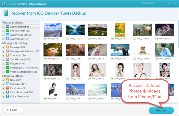 Recover Deleted Photos & Videos from iPhone Directly