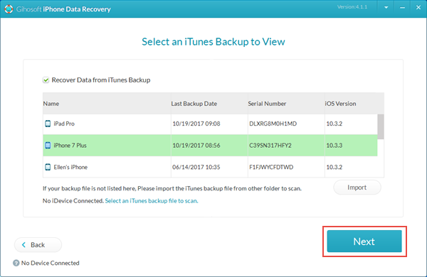 Retrieve Deleted Photos and Videos from iTunes Backup