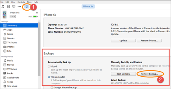 Restore iPhone Viber Messages from iCloud Backup