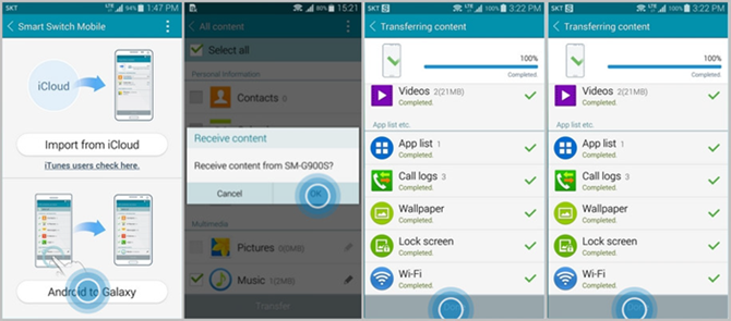 Transfer Data from Android to Galaxy