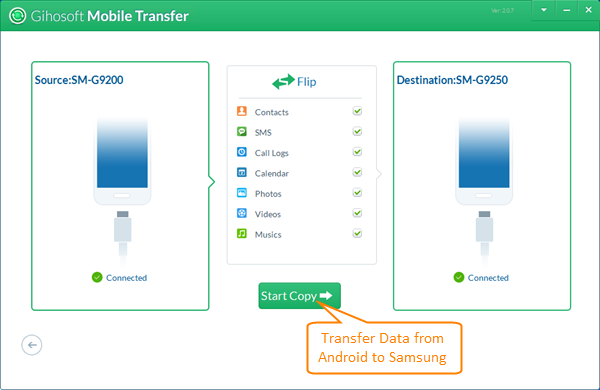 Transfer Data from Android to Samsung Galaxy