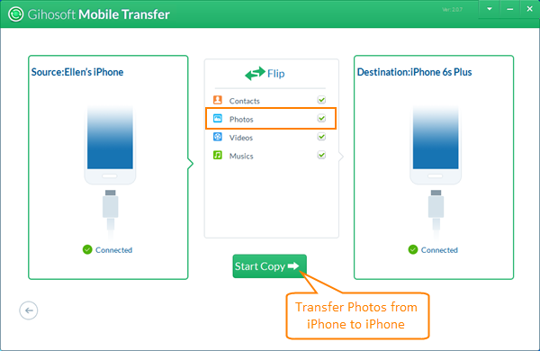 Transfer Photos from iPhone to iPhone or iPad
