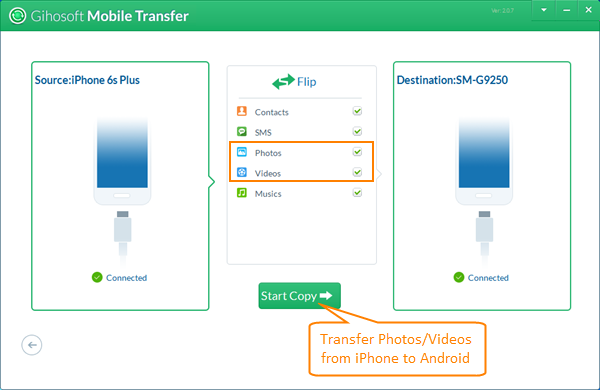 Transfer Photos and Videos from iPhone to Android