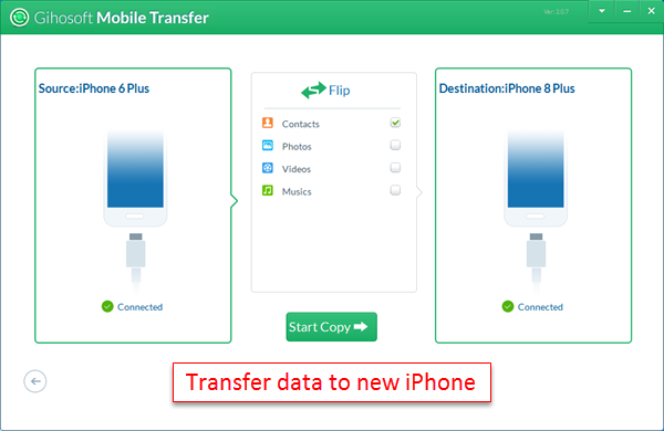 How to Transfer Data from Old Phone to New iPhone X/8/8 Plus
