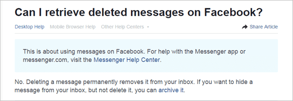 How to Manage and Recover Deleted Facebook Messages 2019