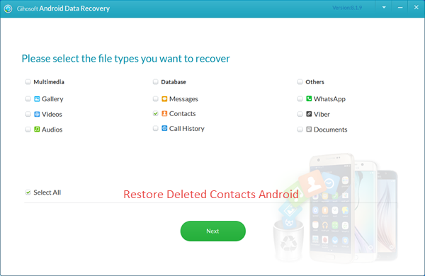 Restore Deleted Contacts Android