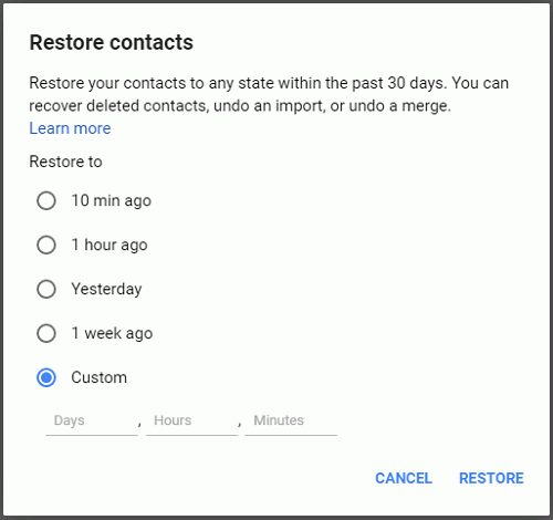 Back up and Save Android Contacts