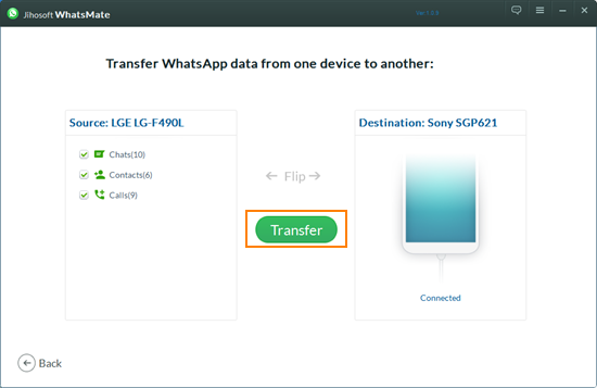 Transfer WhatsApp between Android and iPhone