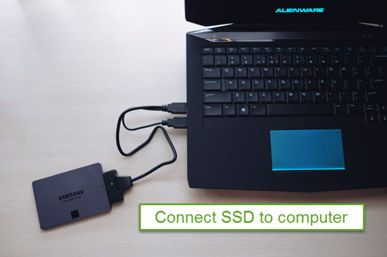 Connect SSD to Computer and Open the Software