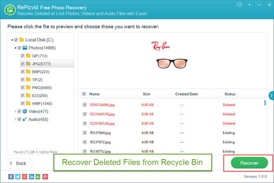Recover and Save Deleted Files in Recycle Bin