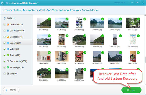 Recover Lost Data Using Gihosoft Android Data Recovery