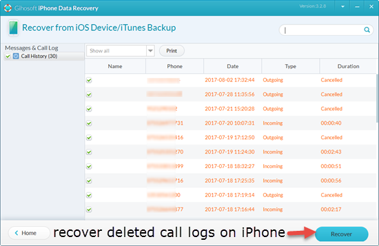 Recover Deleted Call Logs from Your iPhone
