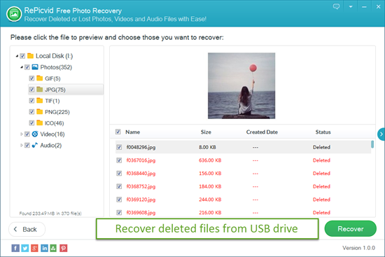 Preview and Recover Deleted Files from USB Drive