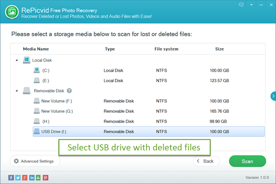 Select a Recovery Option and Ensure USB Drive Is Detected