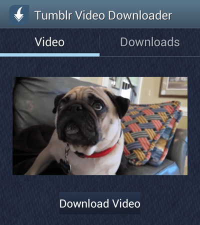 Save Tumblr Videos on Android
