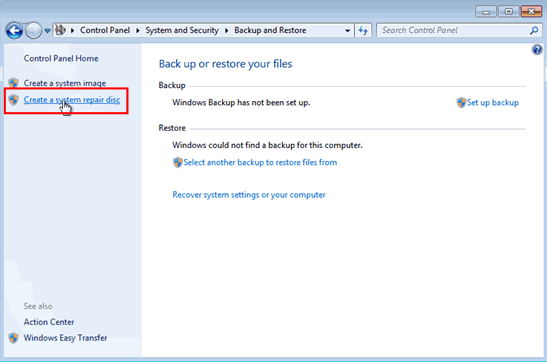 Format Laptop Windows 7 with System Repair Disc
