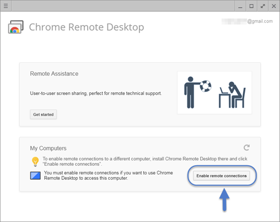 Using Chrome Remote Desktop Service