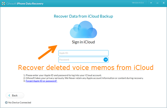 Recover Deleted/Lost Voice Memos from iPhone Backup