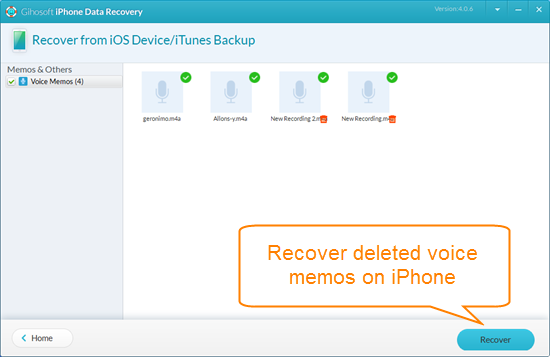 Retrieve Deleted/Lost Voice Memos from iPhone