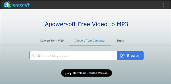 Apowersoft Free Video to MP3 is one of 5 Best Video to MP3 Converter for Mac and Windows
