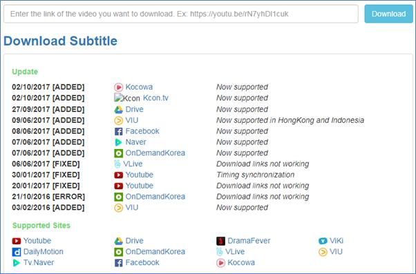 online youtube subtitle downloader