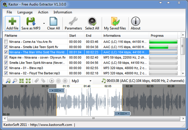 Kastor Free Audio Extractor is one of Kastor Free Audio Extractor