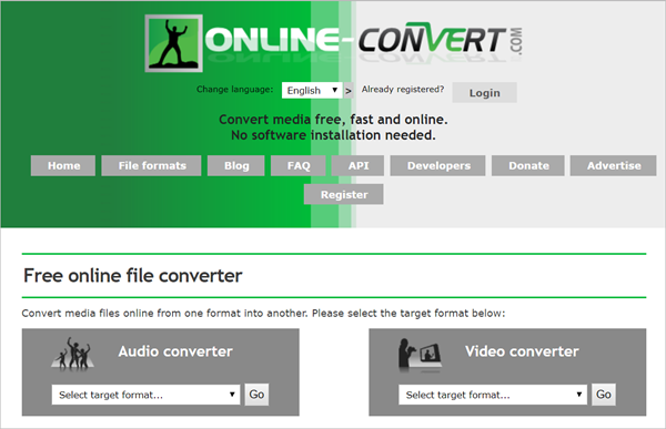 Online-Convert is 2018 Top 5 Best Free Online Video Converter for PC/Mac
