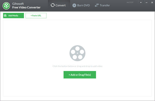 Gihosoft Free Video Converter is Free Online Video Converter Alternative