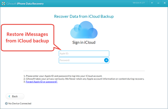 Restore Deleted iMessages from iCloud Backup