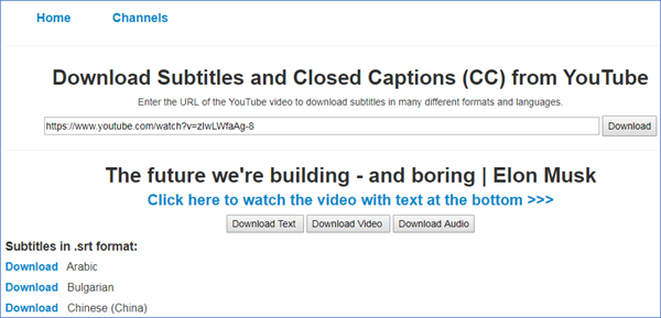 download youtube closed caption