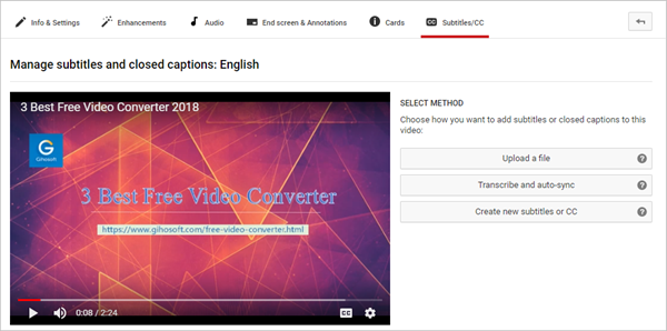 Add Subtitles to YouTube Video