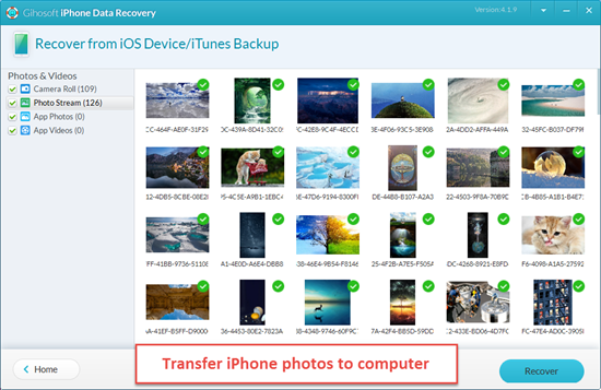 Transfer Photos with Gihosoft iPhone Recovery