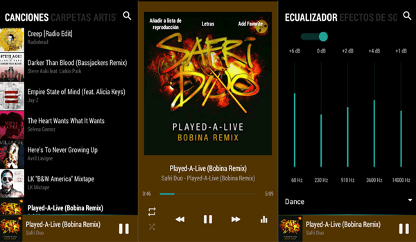 BlackPlayer is one of the 10 Best Free Audio Players for Android in 2018