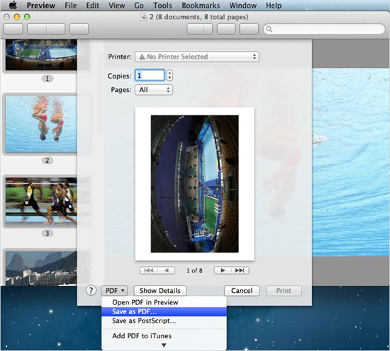 Convert image to PDF with built-in Preview app on Mac