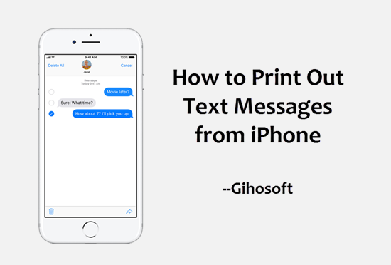 Print Text Messages from iPhone.