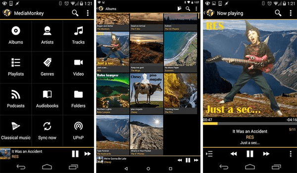 MediaMonkey is one of the 10 Best Free Audio Players for Android in 2018
